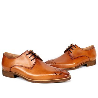 Sixlips simple yas carved derby shoes brown