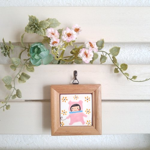 【Mini Framed Tile picture】 Girl