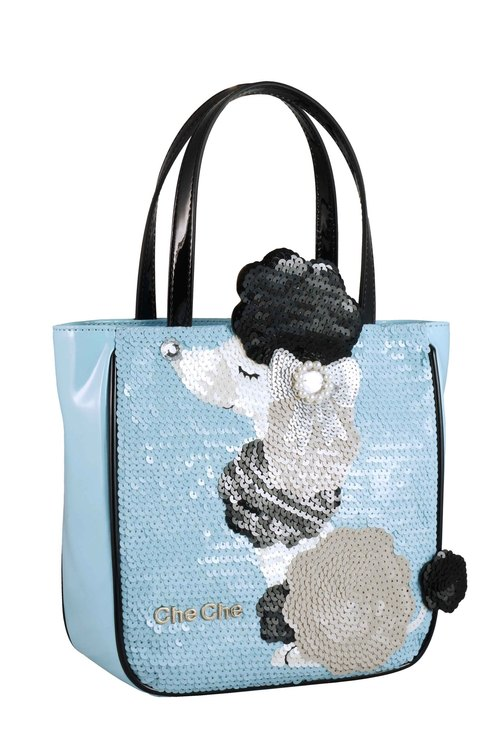Poodle Beaded Hand Tote