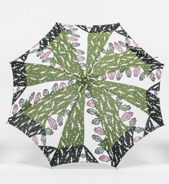 "Handmade parasol ""Kimokawa"" series-bat of the meme type dyed fabrics"