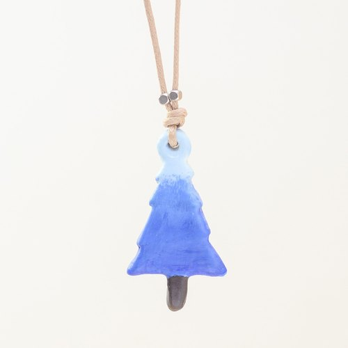 a little Christmas pine tree handmade necklace from Niyome clay.