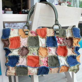 [May x] different materials patchwork quilt portable, shoulder bag - Fun