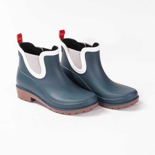 [hanamikoji shoes] ankle rainboots woman blue