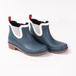ankle rainboots woman blue