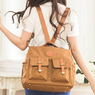 [Kiss] package - Vintage Brown / mother bag / oblique backpack / shoulder bag / Backpack / Mother's Day Preferred