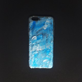Acrylic Hand Paint Phone Case | iPhone 6/6s | Aqua
