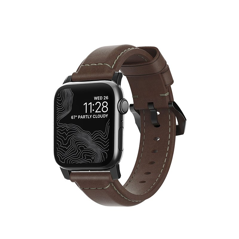 US NOMADxHORWEEN Special Leather Strap for Apple Watch-Classic Black-38/40mm