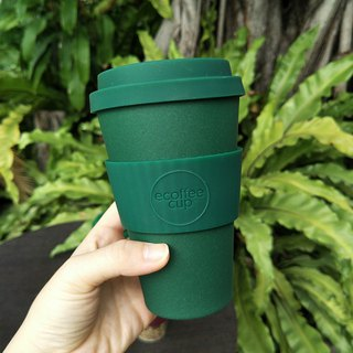 [natural bamboo fiber] environmental protection cup 14oz forest green