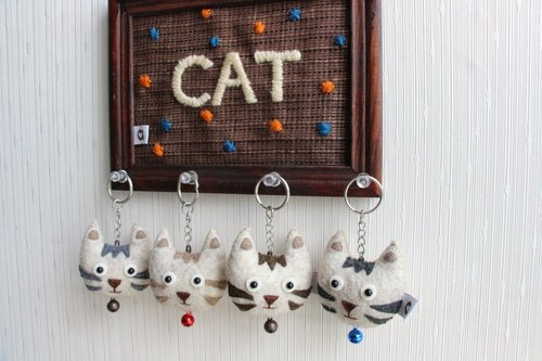 Small exhibition dumpling kittens hill hand stitch key chain │abbiesee