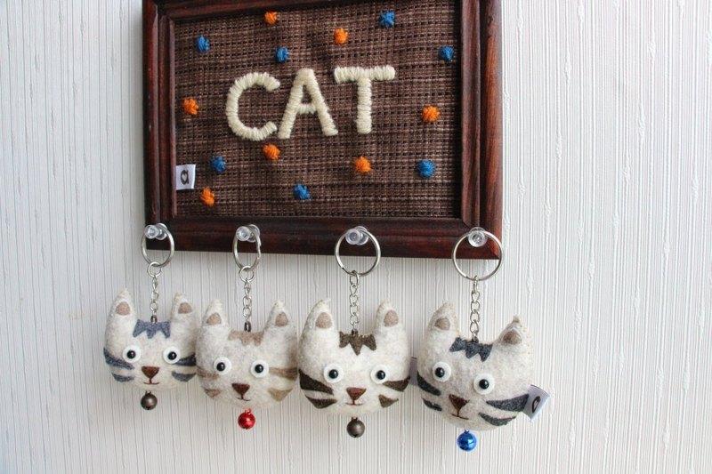 小展覽 糰子小貓 小山 手縫吊飾鑰匙圈│abbiesee