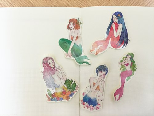 亚特兰提斯 healing mermaid stickers - 10.99mS