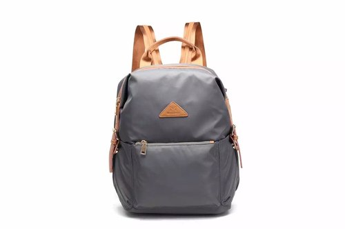 Classic anti-splashing backpack apricot / black / gray / army green # 1013