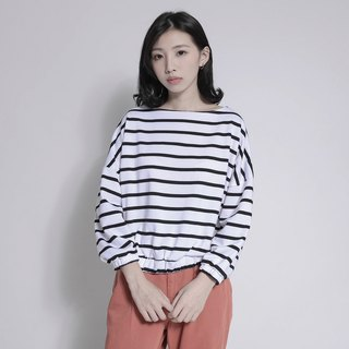 SU: MI said Horizon Horizon Stripe Top_7AF004_ White