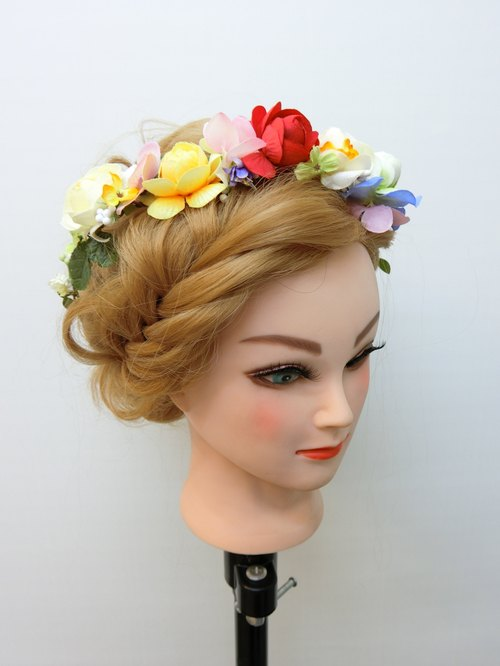 Dream Garden Series - floral headdress F004016-004