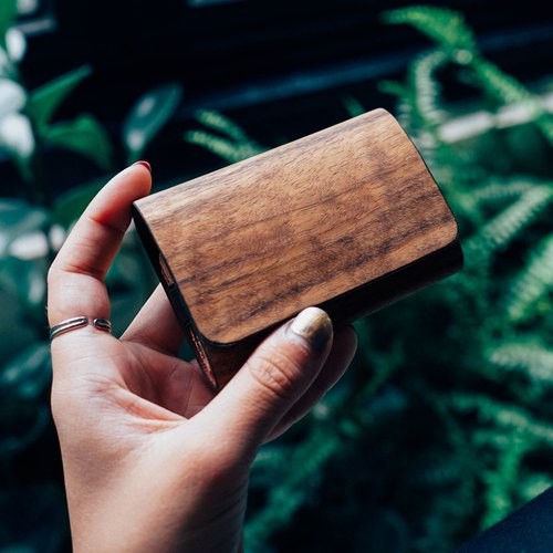 【TREETHER】 Teak Name Card Case