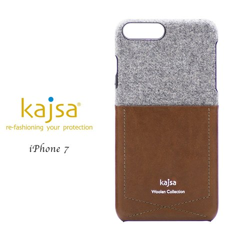 IPhone 7 100% cashmere pocket card single cover mobile phone case (coffee)