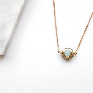 Brass Necklaces | Aquamarine | Planets | Universe