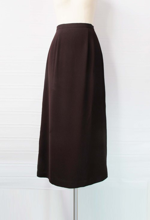 Wahr_ coffee suede  dress