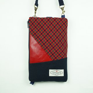 HAZA dual phone bag / passport bag (with hook strap)