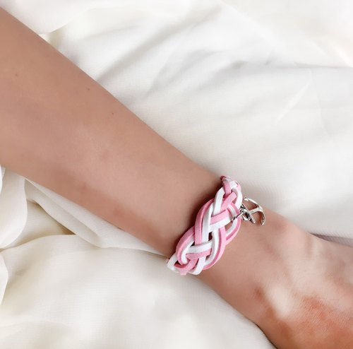 Anne's Handmade | Handmade Braided Sailor Knot Bracelets - romantic pink [limited]