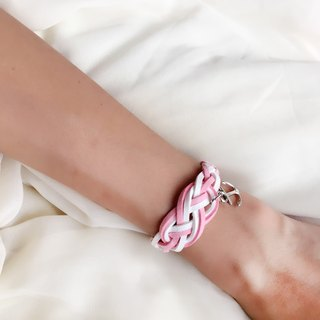 Handmade Braided Sailor Knot Bracelets - romantic pink limited