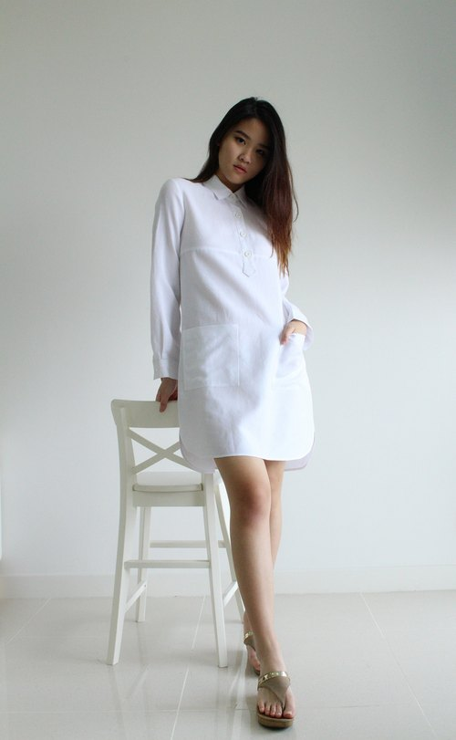 Made to order linen dress / linen clothing / natural linen dress / casual dress / women clothing / E21D