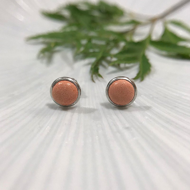 Genuine Leather Earrings-Orange (Ear Clip) Mother's Day Gift