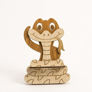 Wooden Formula (Customized - Color Patterns can be replaced) Wooden Phone Holder - 12 Zodiac (snake) Mobile Phone Holder / Ornament / Business Card Holder / Gift / Premium / Mobile Phone Accessories / Stationery