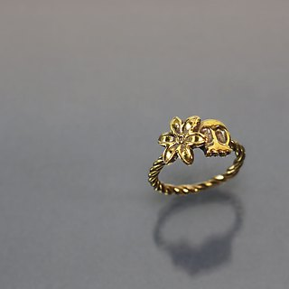 Elf brass ring