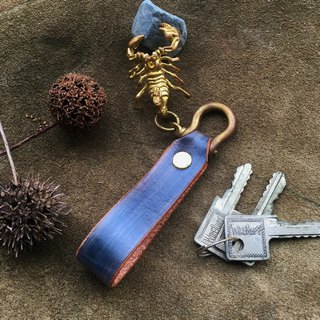 Hin window leather art - handmade leather - key ring Scorpio hand-made vegetable tanned chrome tanned customized custom Wen-ching