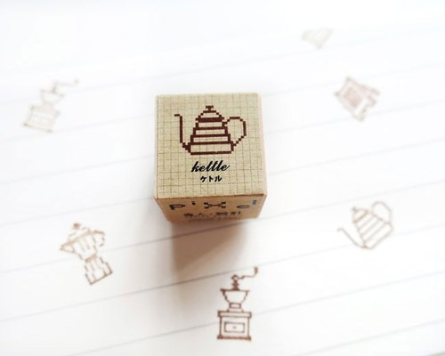 Coffee maker pixel stamp coffee series