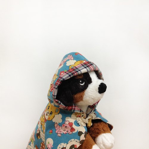 "Pet clothing retro cute animals large collection of blue cloak ""Spot Clearing"""
