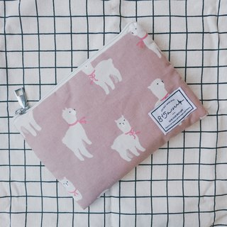 Pink Grass Nima Pencil Case/Cosmetic Bag | 815a.m