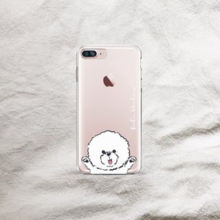 Bichon dog is very transparent and soft shell phone case