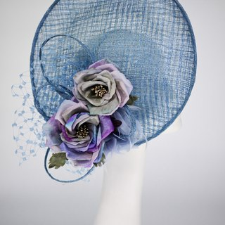 Millinery Royal Ascot saucer hat in sinamay wedding and church hat