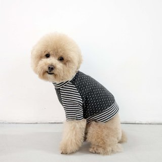 chacha.metyou stripes little high-necked clothes | dog meow hair child |