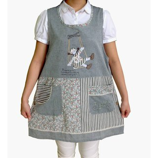 [BEAR BOY] Swing Girl Apron - Blue (side buckle)