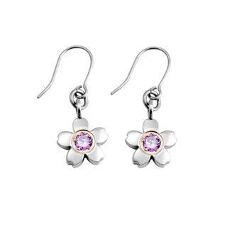 Cherry (S) - mysterious purple pure titanium earrings