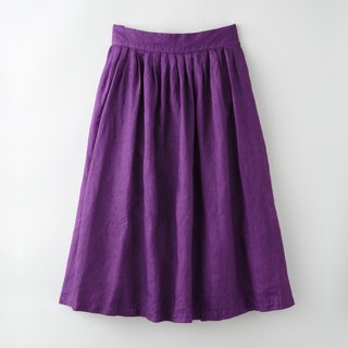 Botanical Dyed Prune Dyed Hemp's skirt 8612-05014-00