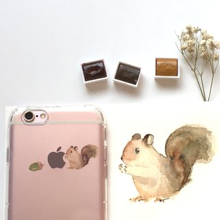 Pine cones are gone - mobile phone case / drop / air pressure shell / customizable handwriting + plus words