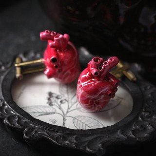 Anatomy Heart Cufflink by Defy/Anatomy Jewelry/Antomical Accessories/Heart Cufflink