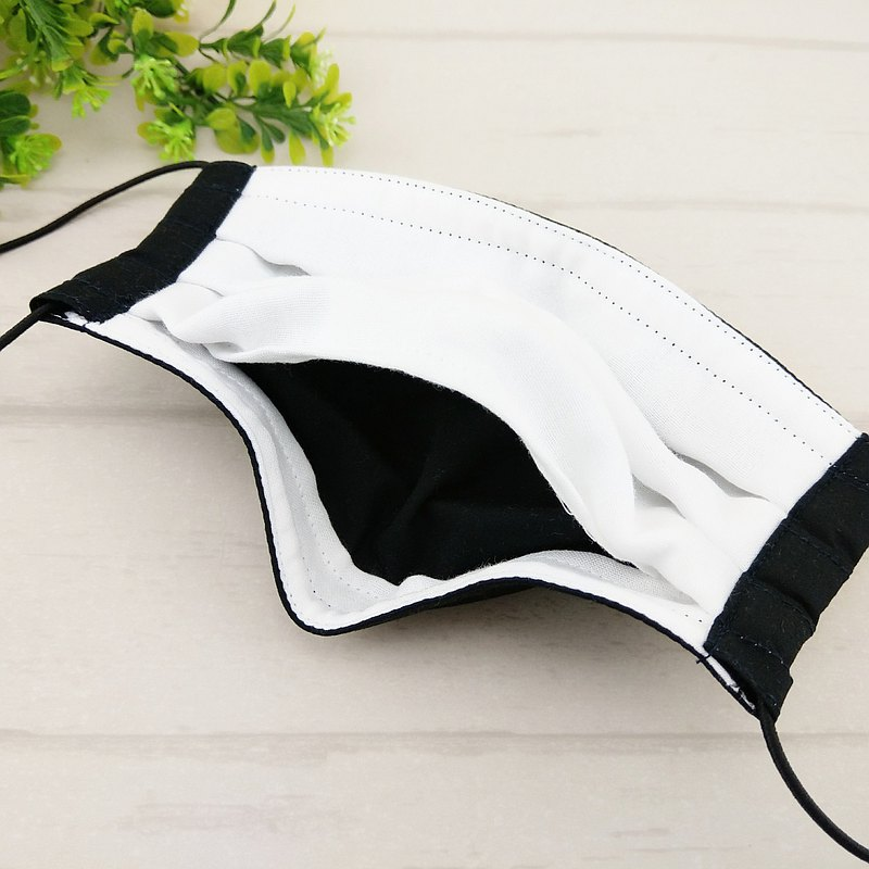 黑色系-5款可選。有壓條有開口棉質布口罩