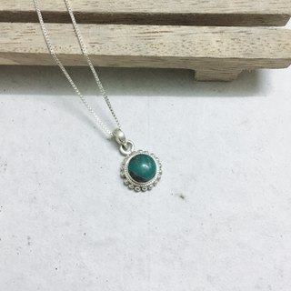 Turquoise Pendant Handmade in Nepal 92.5% Silver