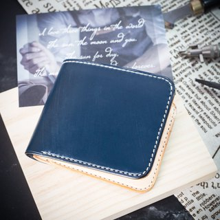 MISTER British Mackerel Silver Wallet [Circular Wallet] Customized Lettering