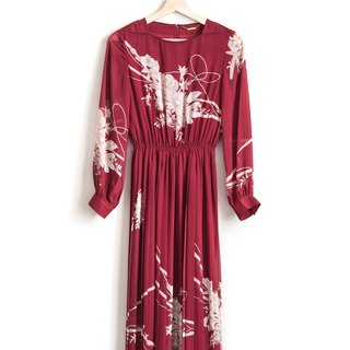 Vintage Elegant Floral Vintage Long Sleeve Dress