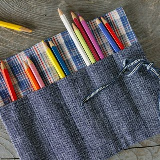 Brut Cake handmade fabric - reel pen case, handy, eco friendly, easy to wash.