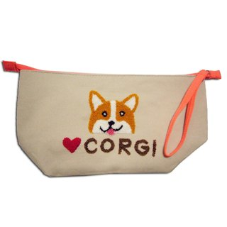 Corgi Cosmetic Bag/ Pencil Bag/ Travel Accessory Bag 哥基 ‧ 化妝袋 / 筆袋 / 雜物袋
