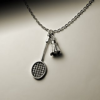 """Badminton racket necklace"""