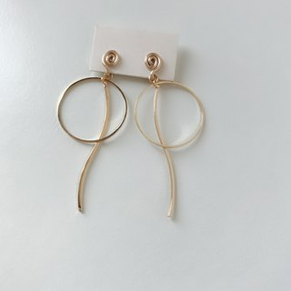 Painless aluminum wire ear clips - elegant waltz - two colors optional