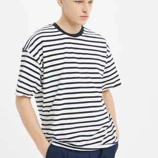 Oversize Stripes Tee /cotton/shirt/henley